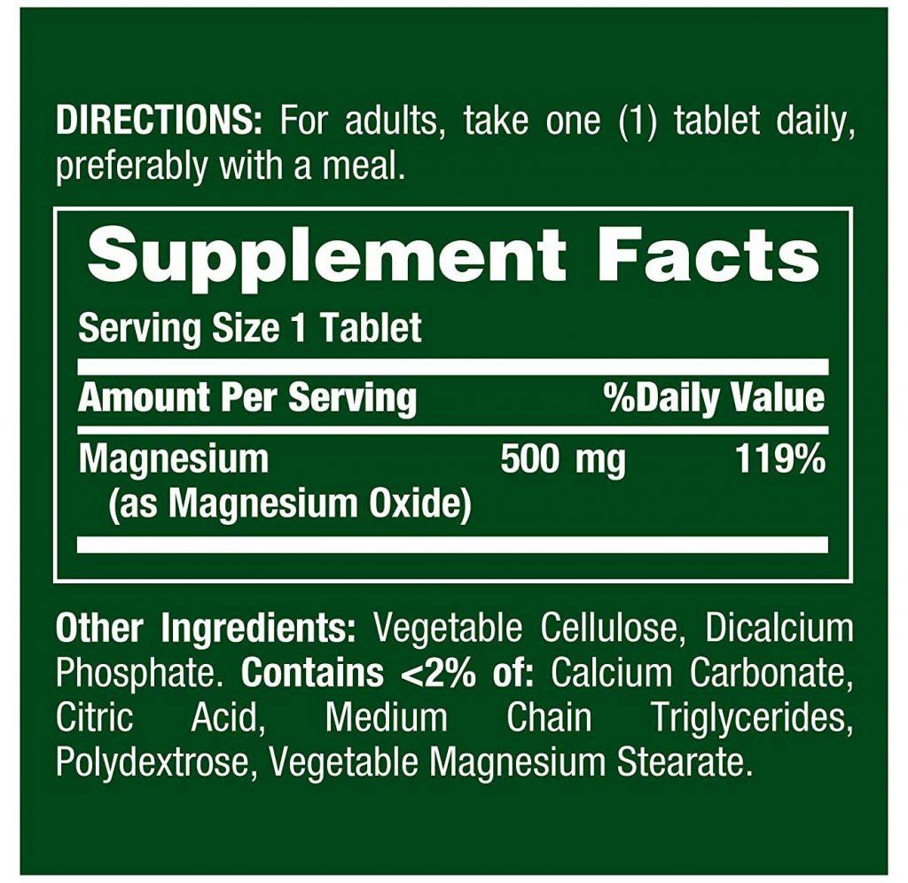 Magnesium Supplement Facts