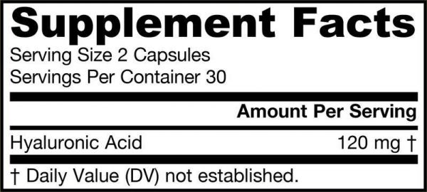 Hyaluronic Acid Supplement Facts