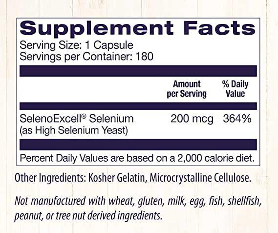 Selenium Supplement Facts