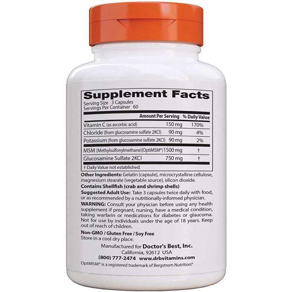 Glucosamine & MSM Supplement Facts